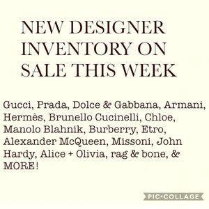NEW DESIGNER & LUXURY INVENTORY THIS WEEK SALE